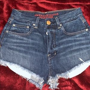 AE Vintage High Rise Denim Shorts